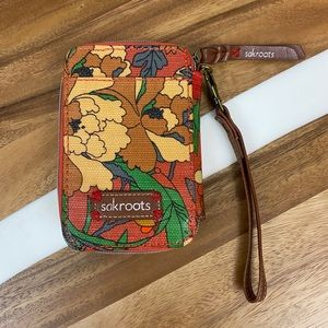 Sakroots Leather Wallet Wristlet